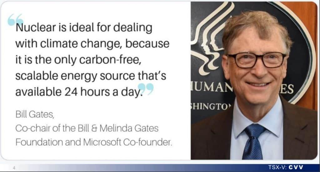 Der Microsoft Gründer Bill Gates spricht sich für den Atomstrom aus