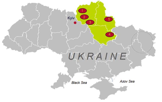 Das Ackerland der ukrainischen Agraraktie IMC befindet sich im Norden des Landes
