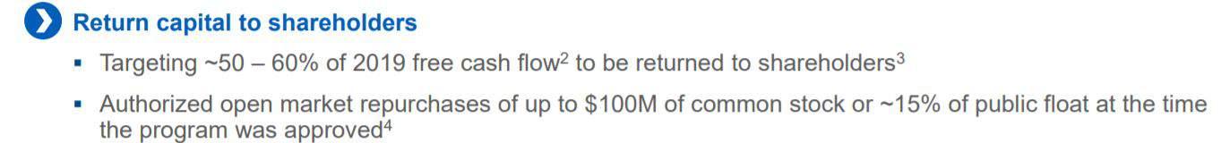 Return to Shareholder